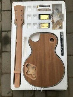 1 set DIY Unfinished Guitar Neck and Body For LP style Guitar kit