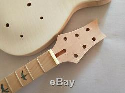 1 set DIY Unfinished electric guitar body and neck for PRS style guitar kit