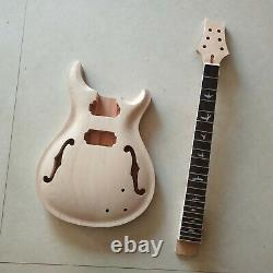 1 set Electric guitar Maple Mahogany body and neck PRS kit diy guitar parts