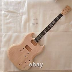 1 set New unfinished Electric Guitar Neck and body for SG style guitar kits