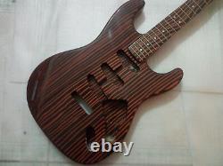 1 set New zebra wood Electric Guitar Body and Neck / DIY Guitar Kit