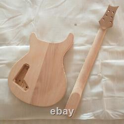 1 set Unfinished electric guitar body with neck Excellent handcraft PRS parts