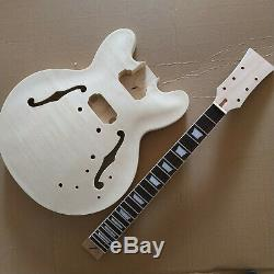 1 set unfinished Guitar Neck and body for ES 335 style guitar kit