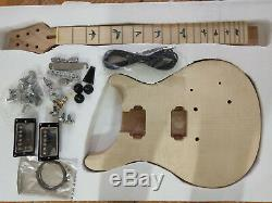 1 set unfinished Guitar Neck and body for PRS style guitar kit all parts