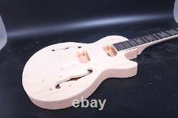 1Set Guitar Kit Guitar Neck 22fret 24.75inch Set In heel Flying Head Guitar Body