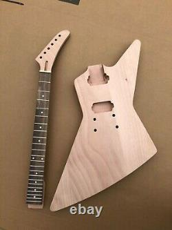 1Set guitar Kit Guitar neck 22fret Guitar Body Banana Head Dot Inlay Set in Heel