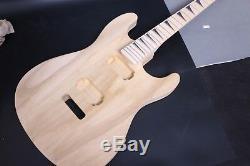 1Set paulownia Guitar Body+Maple Guitar Neck 22Fret Diy Electric Guitar parts