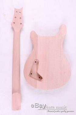 1set Electric Guitar Kit Maple Wood Guitar Body Neck 22 fret 25.5'' Guitar parts