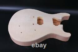 1set Guitar Kit 22fret guitar neck Mahogany Maple Bird Inlay Maple Guitar Body