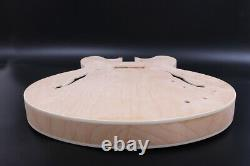 1set Guitar Kit ES335 Guitar neck Guitar Body Unfinished Hollow With Hardwares