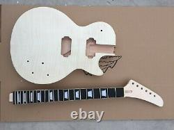 1set Guitar Kit Guitar neck 22fret Mahogany Maple Cap Set In Explorer neck