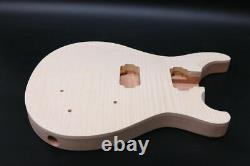 1set electric guitar Kit Guitar Neck Body Maple Mahogany Wood 22fret 24.75inch