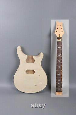 1set electric guitar Kit Guitar neck Body Maple Mahogany Wood 22fret Rosewood