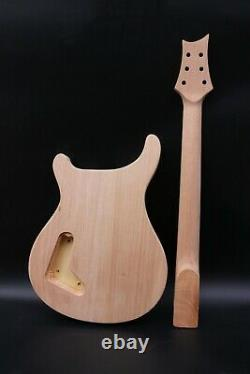 1set guitar kit Guitar Neck 22 Fret 24.75inch Guitar Body Quilted Maple Veneer