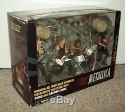 2001 Metallica Box Set MISB Figures & Stage McFarlane Toys guitar t shirt tix