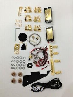 239DIYSG Electric Guitar DIY, No-Solder, Set Neck, Semi-Hollow Body, Golden Hardware