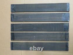 5 PACK SET, GABOON EBONY GUITAR/LUTHIER/ FINGERBOARD BLANK 21 x 2.95