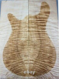 5A Ripple Maple Craft Wood Bookmatch Guitar Top Set Luthier Supply