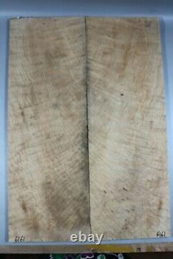 6161 5A 11mm Flame Maple Wood les paul Guitar Bookmatch Fat top set Luthier