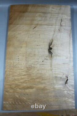 #6488 14mm Quilted Maple wood Guitar Fat Top set luthier supply-ONE AND ONLY