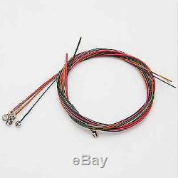 6pcs/set Rainbow Colorful Color Steel Strings for Acoustic Guitars New