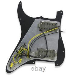 A Set of OriPure Prewired Strat HH Guitar Pickguard Alnico 5 Humbucker Pickup