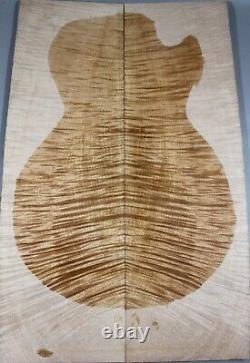 AAAAA 10mm Flame Maple Burl Wood Bookmatch Guitar Top Set