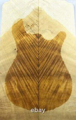 AAAAA Flame Golden Phoebe Wood Bookmatch les paul Guitar Top Set Luthier Supply