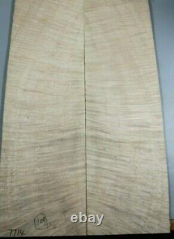 AAAAA Ripple Maple Craft Wood Bookmatch Guitar Top Set Luthier Supply