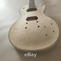 Advanced 1 set DIY unfinished Guitar Neck and body for LP style guitar kit