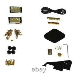 Best 1 set DIY unfinished Guitar Neck and body for LPT style guitar kit all part