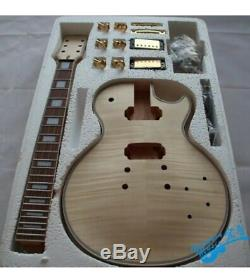 Best 1 set unfinished Electric guitar kit diy guitar with all hardware/ LP Style
