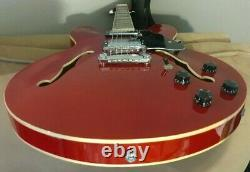 Brand New Grote Semi Hollow Electric Guitar Cherry Red. Set up. Gig Bag. ES335