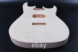 DIY Guitar Body Mahogany Flame Maple Cap Set in Bolt On Heel HH Jackson Iba