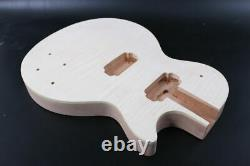 DIY Guitar Body Set in Glue on Guitar Mahogany Flame maple cap HH Arched Top