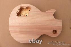 DIY guitar Body Replacement Mahogany Flame Maple Veneer Set In Heel