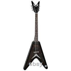 Dean V 79 Flame Top Electric Guitar, Trans Black #V 79 TBK