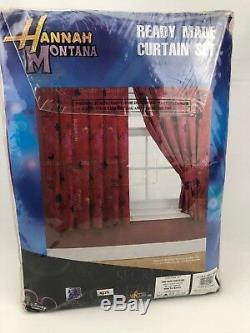 Disney Hannah Montana Guitars 66 x 54 Ready Made Curtain Set NEW