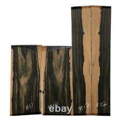 Dreadnought Palemoon Ebony Guitar Back & Side Set #17 Luthier Tonewoods