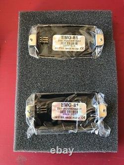 EMG 81 25th Anniversary Set Electric Guitar Pickup Set New Chrome