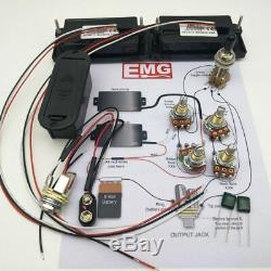 EMG Electric Guitar Active Preamp Pickups Humbucker Set 81 85 Wiring Pickups