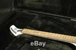 Electric Guitar White Color, Set in Joint, Humbucker Pickups Stock Black Hardware