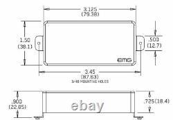 Emg 57-7h + 66-7h Red 7 String Humbucker Mount Active Guitar Pickup Set & Wiring