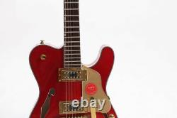 F Hole Semi Hollow Body TL Electric Guitar Gold Hardware Set In Fast Shipping