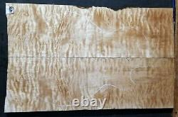 FLAME QUILTED MAPLE WOOD 11875 Luthier 5A Guitar LES PAUL Top Set 24x 15x. 625