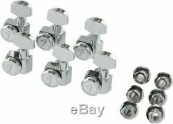Fender Locking Guitar Tuners American Deluxe Strat Chrome Set of 6 0990818100