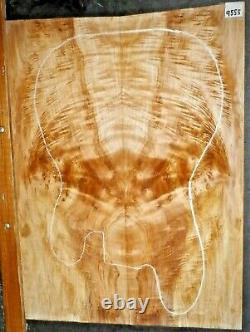 Flame Spalted Maple Instrument Wood #9555 Solid Body 5A BASS Guitar Top set