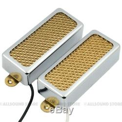 GOLD FOIL Mini Humbucker Neck & Bridge Pickup Set for Electric Guitar, Firebird