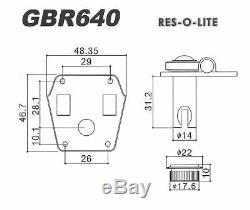 GOTOH GBR640 Super Light Weight Bass Guitar Reverse Wind Tuning Machine Set