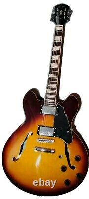 GROTE Electric Guitar Semi-Hollow Body Set-In Neck Vintage Sunburst (VS) Color